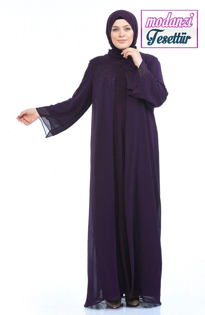 Sefamerve Buyuk Beden Abiye 2020 Buyuk Beden Tas Baskili Abiye Elbise 6256 02 Mor 2020 Elbise Elbise Modelleri Moda Stilleri