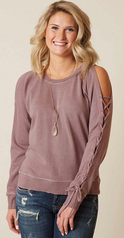 Cute Shirts for Women : Lucky Brand Laceup Sweatshirt | Buckle