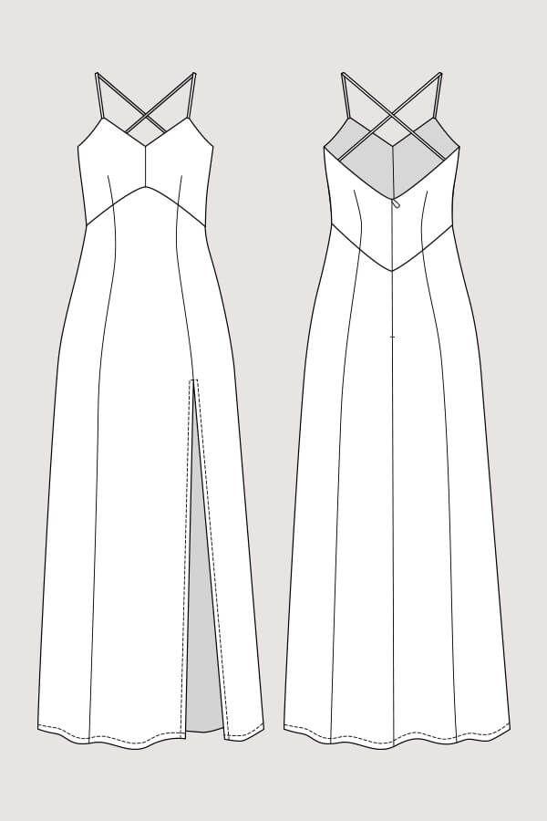 Elizabeth Gown Esbocos De Design De Moda Estilos De Ilustracao