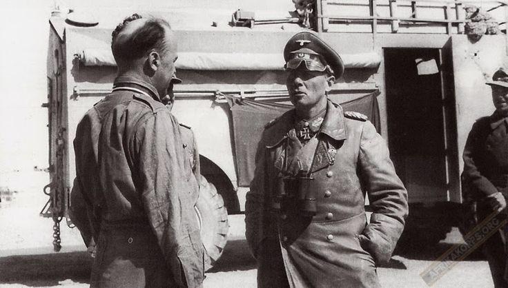 Rommel and Oberstleutnant Freiherr von Wechmar (Kommandeur Aufklärungs-Abteilung 3 / 5.leichte-Division)...and AEC Dorchester...