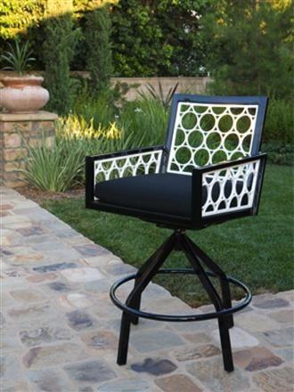 Parkview Collection Cast Swivel Rocker Chair LOK-261-03