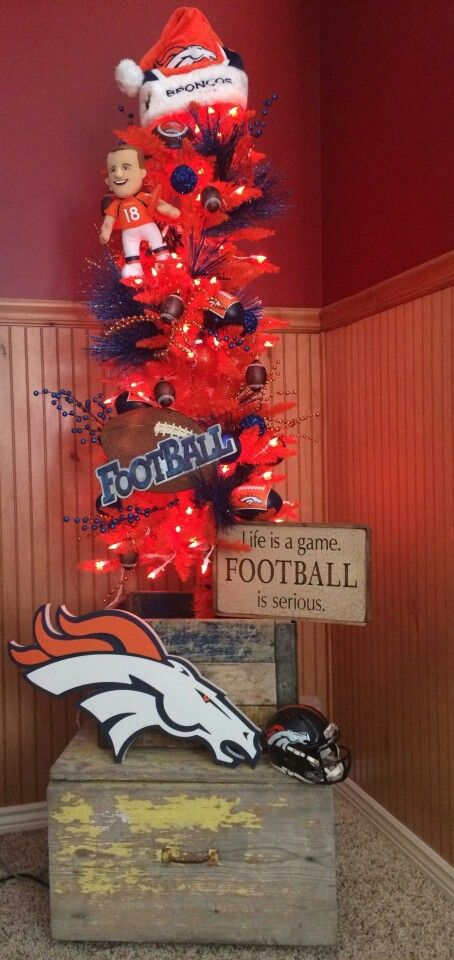 My Christmas tree this year 2014. GO BRONCOS!!!