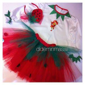 Didem'in Masalı Çilek Kız kostümü, doğum günü elbiseleri, doğum günü kıyafetleri, Çilek Kız kostümü