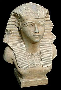 Queen Hatshepsut Bust from the Metropolitan Museum of Art