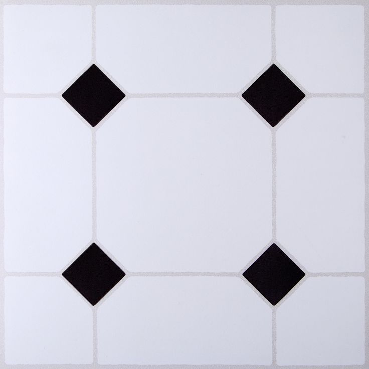 B&Q Value Black & White Tile Effect Self Adhesive Vinyl Tile Pack 1.02m² | Departments | DIY at B&Q