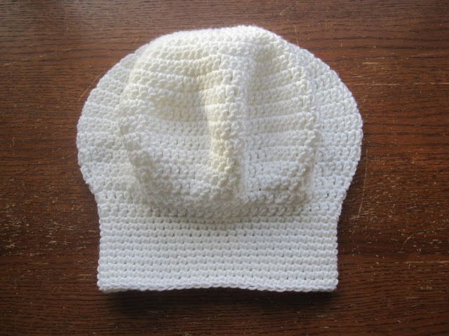 """A Chick w/ Sticks: Chef hat FREE Pattern. // ♡ MUSTMUSTMUST MAKE THIS FOR MY #3...OUR """"LITTLE CHEF""""! ♥A"""