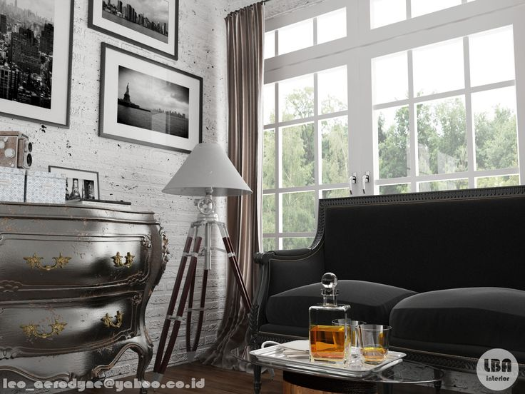 mixing of classic - industrial style