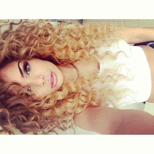 Light curly hair