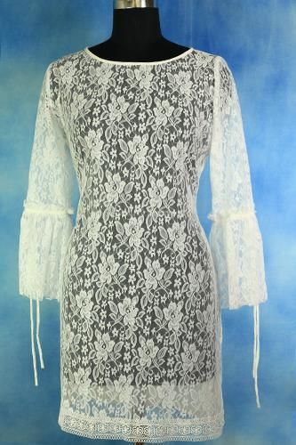 Designer Exclusive White Lace Tunic at best price at our website www.Harmeendesign.com