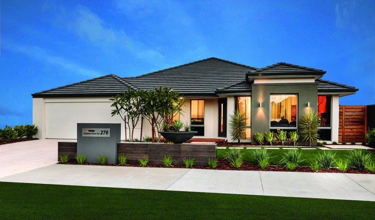 Homebuyers centre haven display home own your home for Display home garden designs