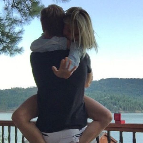 "Future Mr. & Mrs from Julianne Hough & Brooks Laich: Romance Rewind  ""We are overwhelmed with joy and excitement to share with you our recent engagement! #fiancé #love"" Hough wrote on Instagram in August 2015."