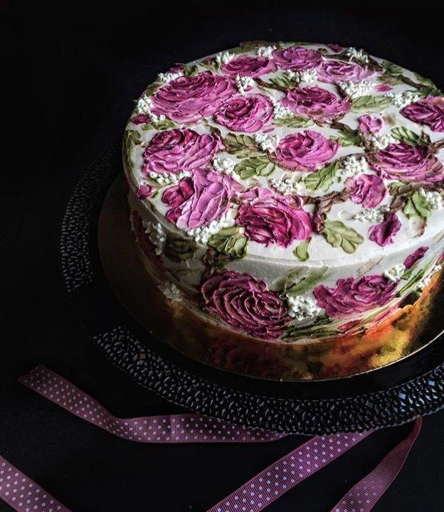 Чей-то дизайн торта. Очень красиво
