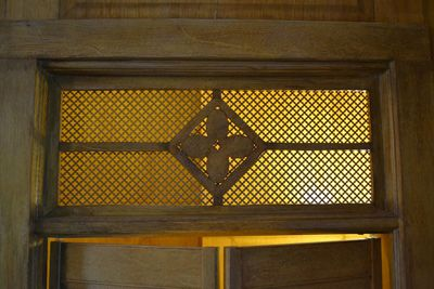 A transom in the oak room