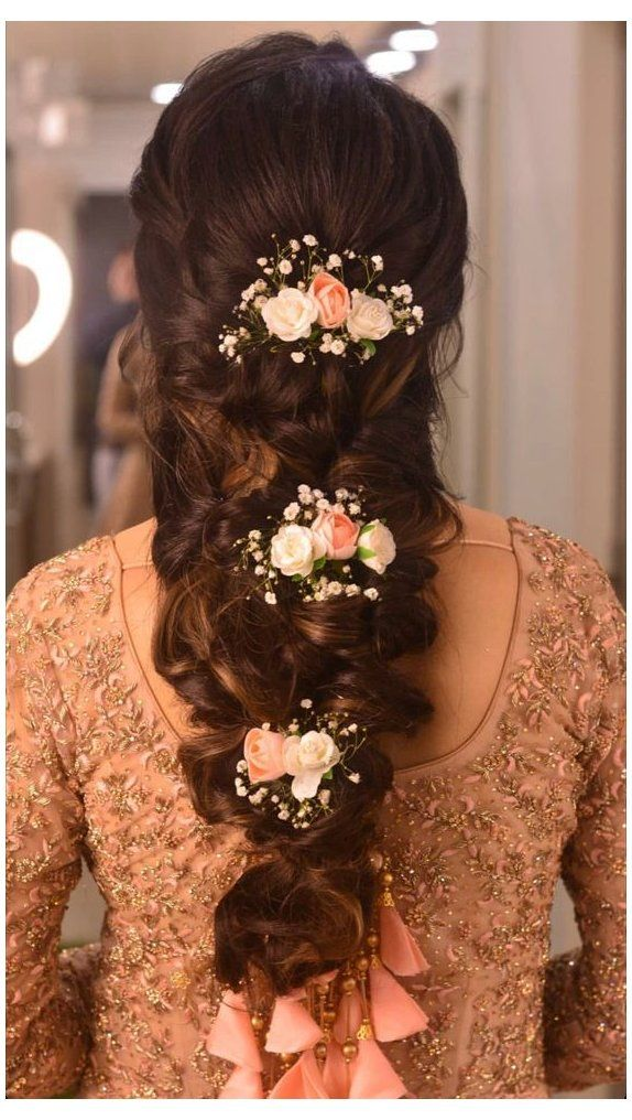 9 Reception Hairstyles For Indian Brides Engagement Hairstyles Long Thick Hair Eng In 2020 Engagement Hairstyles Bridal Hair Buns Bridal Hairstyle Indian Wedding