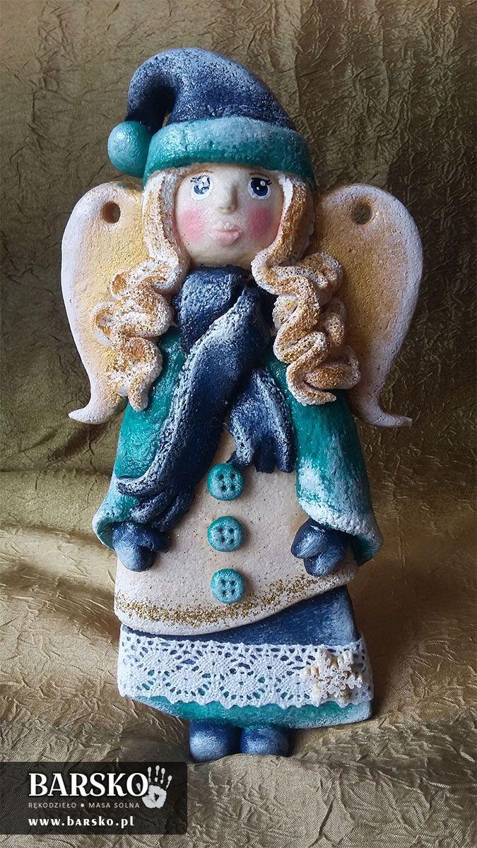 Zimowe Anioły z masy solnej