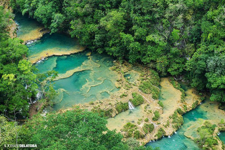 Aereal view of Semuc Champey  #josafatdelatoba #cabophotographer #travels #guatemala # #landscapephotography #semucchampey #waterfall