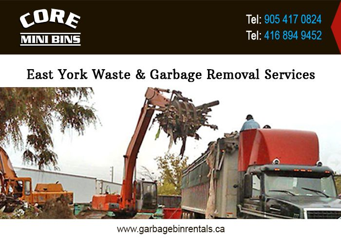 Since last ten years, Core Mini Bins at Ontario is continuously expanding its services and the area of operation. Today, Core Mini Bins is the leading company providing waste garbage removal services, junk rubbish removal services, and waste removal services in East York, Canada. For More Details Please Visit @ http://www.garbagebinrentals.ca/east-york-waste-junk-garbage-rubbish-removal-services.html