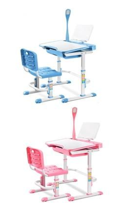 Kid Study Table. Adjustable Study Table With LED Light. Adjustable Board +  Adjustable Height + Storage. Table Height: 52cm To 79cm.