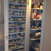 Kitchen. white wooden pantry kitchen cabinet door with full length spice shelves. Winsome Pantry Door Spice Rack Design Ideas
