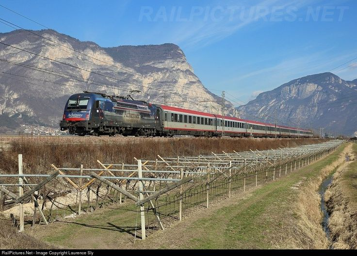 RailPictures.Net Photo: E190 007 OBB Austria Rail E190 at Mezzocorona , Italy by Laurence Sly
