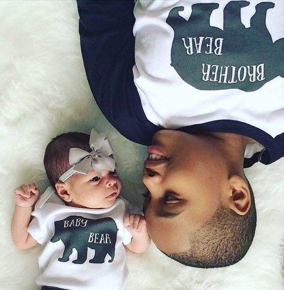 Brother Bear and Baby Bear Shirts;Matching Sibling Shirts;Baby Bear Baseball Shirt;Pregnancy Announcement;Big Brother Shirt;Big Brother