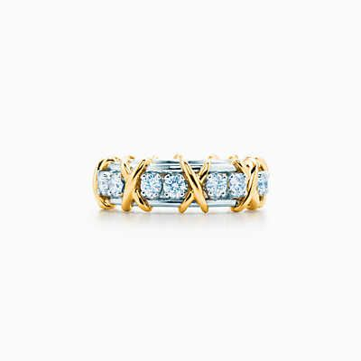 Anillo Sixteen Stone de Tiffany & Co. Schlumberger con diamantes.