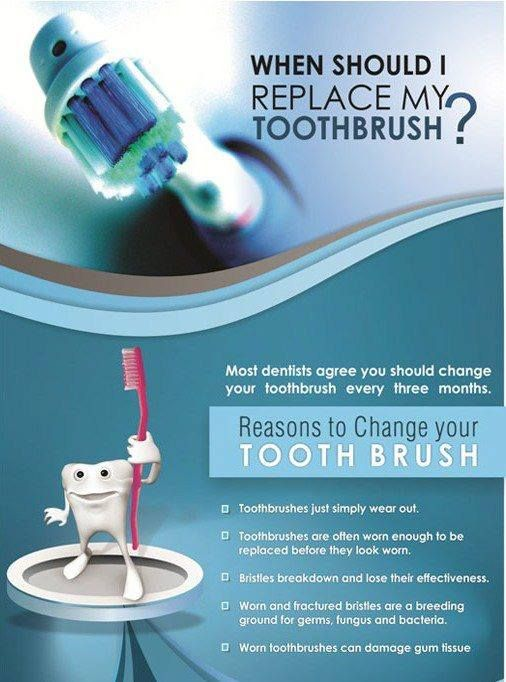 Replace Toothbrush before it gets wear out - Novadent - Advanced Poly Dental Care Center #dental   #dentalcare   #toothbrush   #oralhygiene   http://www.novadenttly.com/