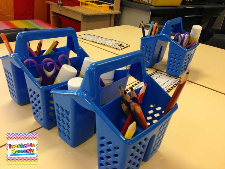 Organising Table Supplies - Another Bright Idea - Teachable Moments blog
