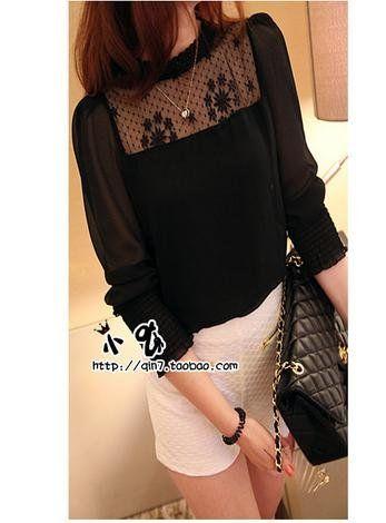 Amazon.co.jp: (フルールドリス)Fluer de lis セレブスタイル シフォン ブラウス 2色 ブラック 黒 ホワイト 白 ファッション レディース 3615/3622: 服&ファッション小物