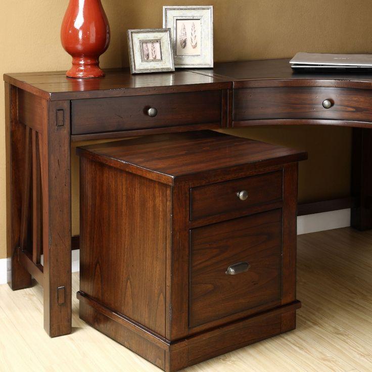 office furniture desk vintage chocolate varnished. Home Office Furniture Design Ideas With Curved Desk Riverside Corner Americana Wooden Brown Drawer Vintage Chocolate Varnished I
