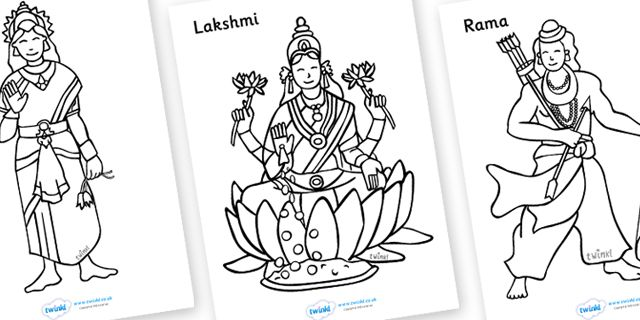 Twinkl Resources >> Diwali Colouring Sheets >> Thousands of printable primary teaching resources for EYFS, KS1, KS2 and beyond! Diwali, religion, hindu, activity, posters, colouring, fine motor skills, hanoman, rangoli, sita, ravana, pooja, pooja thali, rama, lakshmi, golden deer, diva lamp, sweets, new year, mendhi, fireworks, party, food,