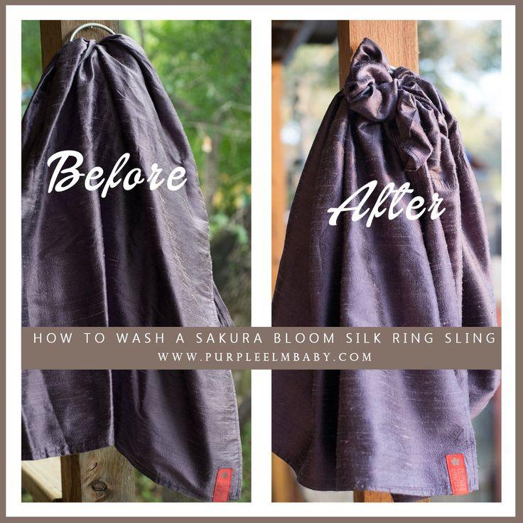 Before and After Washing Sakura Bloom Silk Ring Sling