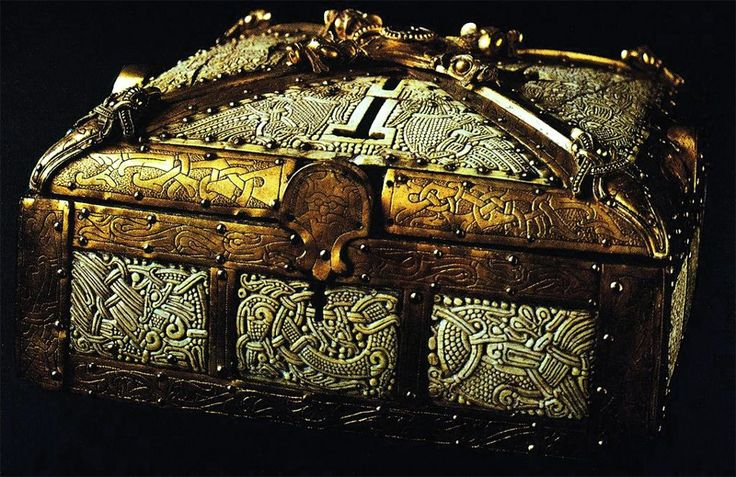 A real Viking treasure chest, dating back over a thousand years ago.