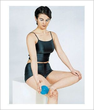 2 x 9cm Hand Foot and back Trigger Point Massage Ball