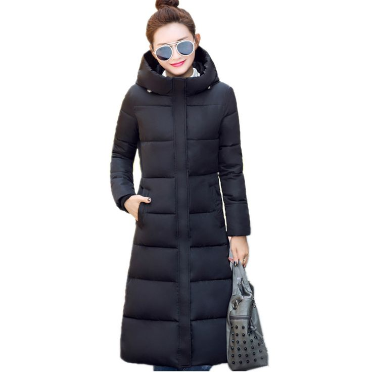 2016 New winter design long overcoat women's cotton-padded jacket plus size candy color Jackets & Coats green black red F1002