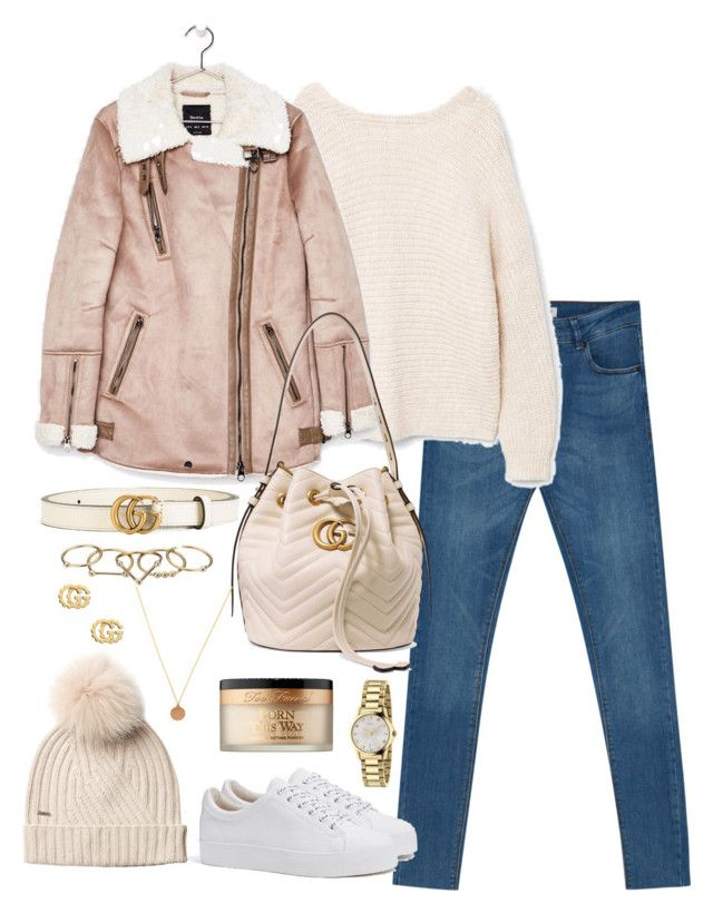 """""""Untitled #4921"""" by theeuropeancloset on Polyvore featuring MANGO, Bershka, Gucci, Zimmermann, Woolrich and Too Faced Cosmetics"""