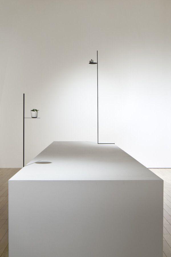 Minimalistische Design Beistelltische Aus Metall Nutzen Tote Ecken, Möbel.  Design Elemente .