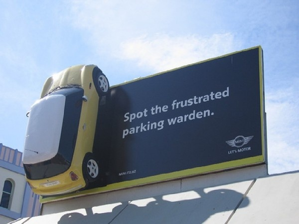 Mini billboard Wellington