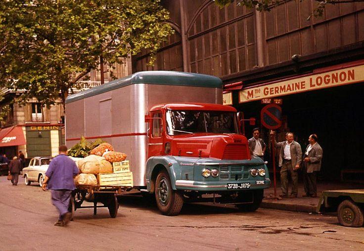 Camion Unic Tourmalet ZU82 fourgon primeur, 1960.