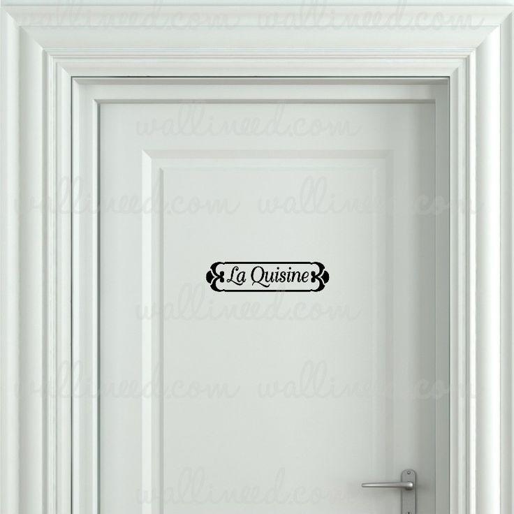 La Quisine Kitchen Door Sign – Door Sticker