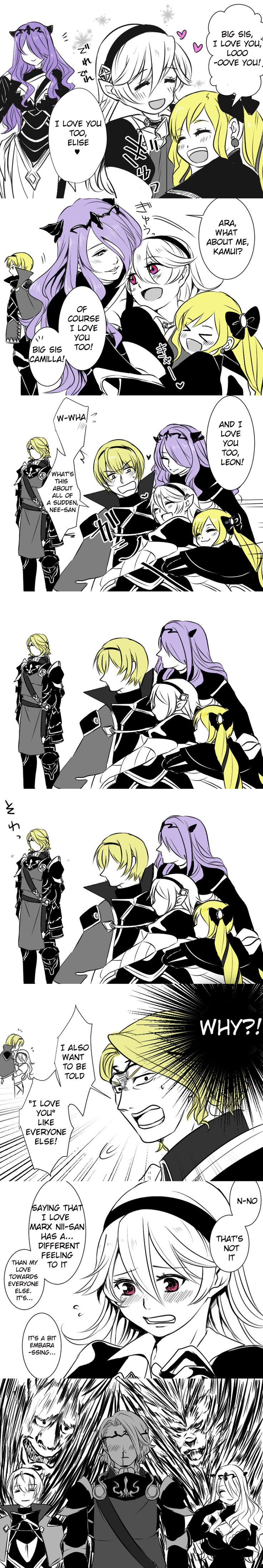 Fire Emblem: If/Fates - Kamui, Leon, Camilla, Elise and Xander