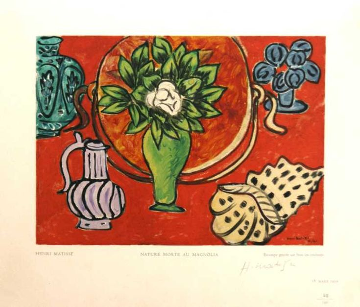 Nature Morte Au Magnolia by Henri Matisse