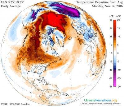 Cold Weather Delayed over North America via NASA Холодная погода, задерживается над Северной Америкой