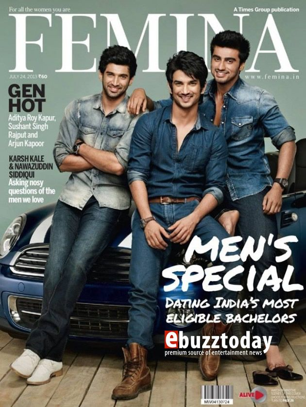 Aditya Roy Kapur, Sushant Singh Rajput and Arjun Kapoor take over the cover of Femina this month!