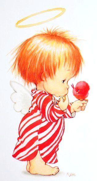 Printable - Red Angel - Ruth Morehead