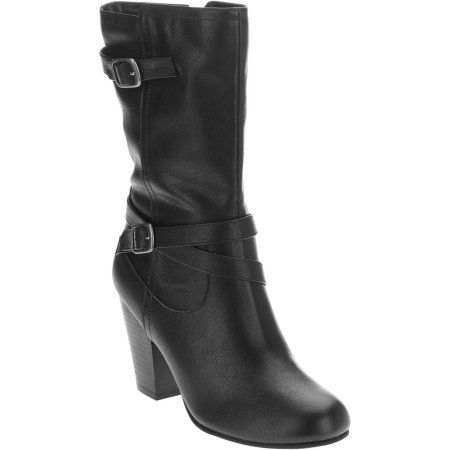 Faded Glory Women's Slouch Dress Boot Online Only, Size: 6, Black