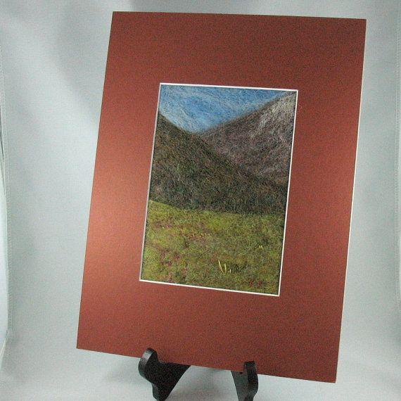 Needle Felted Landsape Yukon Fireweed by KathyKinsella on Etsy