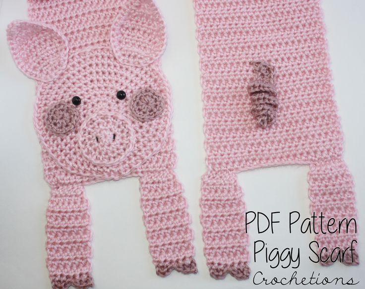 Love piggies? Make your own with the Pig Scarf Crochet Pattern!