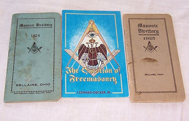 Antique Freemason Masonic Directory Bellaire Ohio 1924 1925, The Question of Freemasonry J. Edward Decker Jr Booklets, Deafenbaugh Press by SierrasTreasure on Etsy
