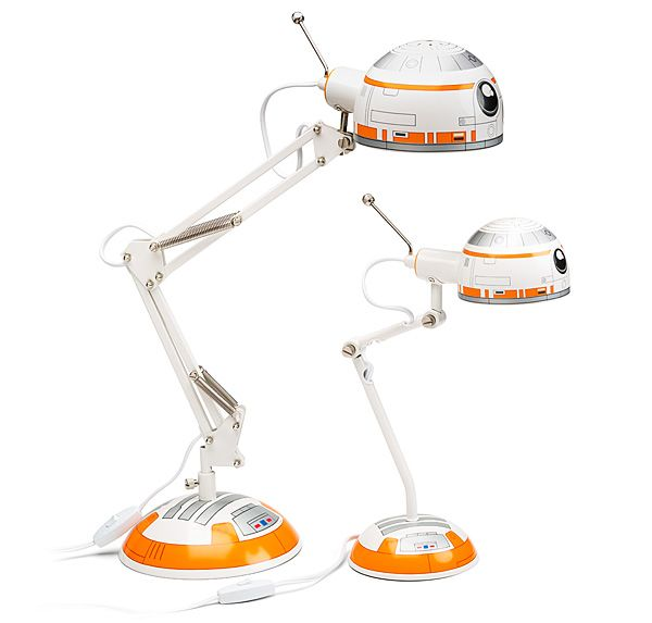 This BB-8 Architectural Desk Lamp is modeled after everyone's favorite modern droid. He wil light up your room and your heart.  And it promises to not roll away. You will have to supply the beep and boop noises of course.    Star Wars BB-8 Architectural Desk Lamp   	BB-8 Architectur